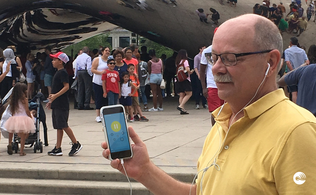 Electronic Tour Guide application in Millennium Park, Chicago